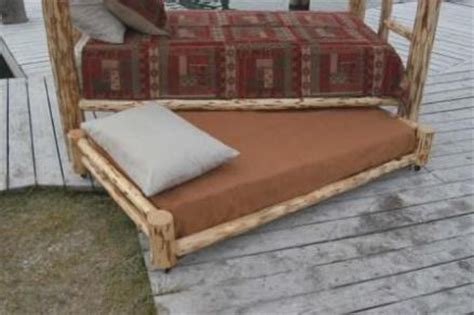 Log Bunk Beds With Trundle Rustic Log Trundle Bed W Mattress Rustic Beds For Sale Lodge Craft