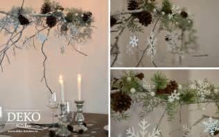 winterdeko tisch diy dieser gro 223 e weihnachtliche deko zweig bringt