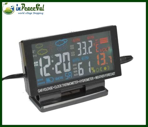 Thermometer Auto by 4 5 Quot Colorful Led Display 12v 24v Auto Car Thermometer