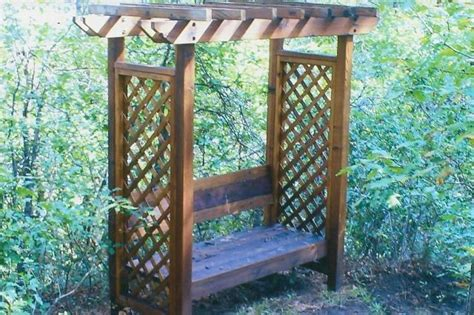 bench trellis trellis bench how my garden grows pinterest