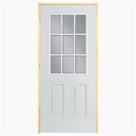 Lowes Prehung Exterior Doors Shop Reliabilt Clear Prehung Outswing Fiberglass Entry