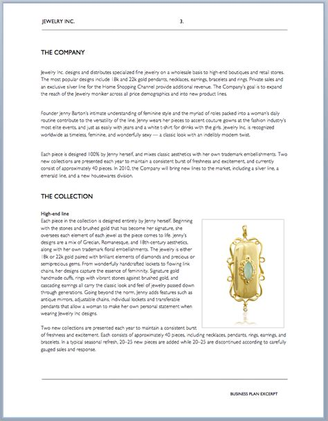 Jewelry Business Plan Template business plan for custom jewelry pdfeports585 web fc2