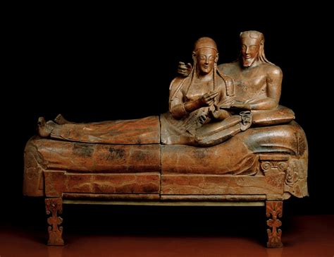 Sarcophagus Of Reclining by Front
