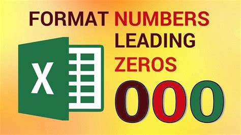 html format number leading zero how to format numbers with leading zeros in excel 2016