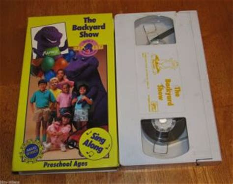 Barney And The Backyard Vhs by Barney Goes To School Backyard Vhs 1990 Sing Along