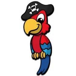 Kid Wall Stickers pirate parrot 3d cartoon wall art orientation left facing