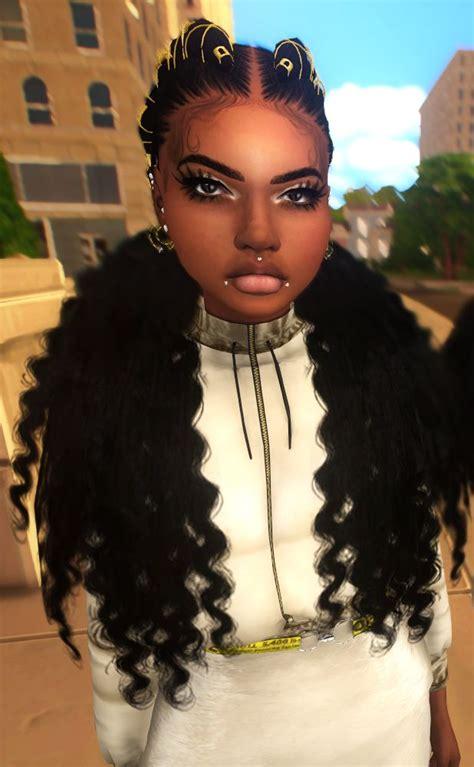 ebonix pocahunty waterfall goddess sims hair sims