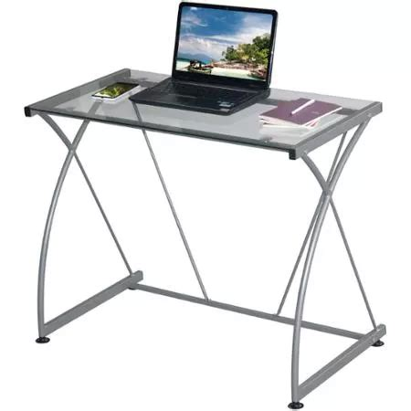 Glass Table Top Computer Desk Glass Top Computer Desk Only 23 54 Mybargainbuddy