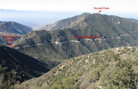 hundred peaks section sunset peak lo site california