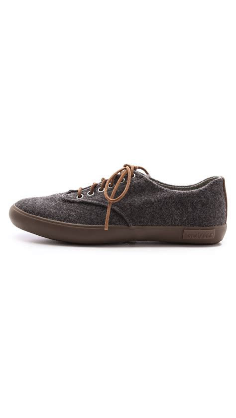 plimsoll shoes for seavees hermosa plimsoll shoes in gray for lyst