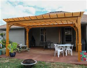 Backyard Creations Deluxe Arched Pergola With Gold Trim Treated Pine Belvedere Free Standing Pergolas Pergolas