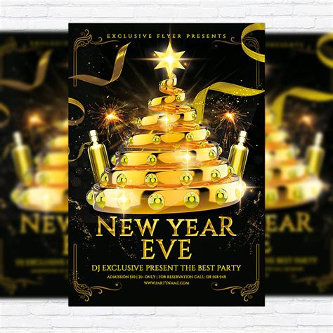 new year eve premium flyer template facebook cover