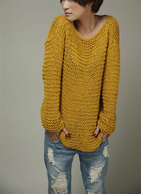 mustard knit sweater simple is the best knit sweater eco cotton