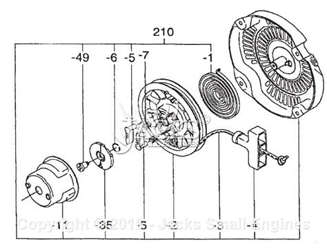 briggs and stratton recoil starter assembly diagram robin subaru ex21 rev 07 13 parts diagram for recoil starter