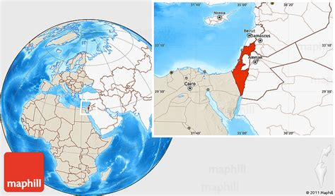 where is jerusalem on the world map shaded relief location map of israel highlighted continent