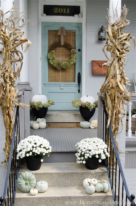 decorate front porch for fall fall porch decorating ideas home stories a to z