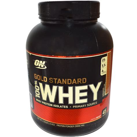Whey Standard optimum nutrition gold standard 100 whey protein isolates chocolate peanut butter 3 31 lbs