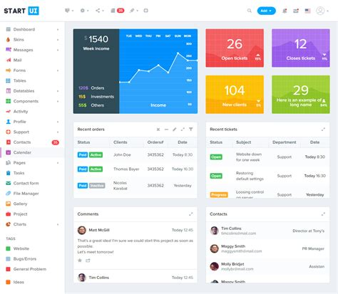 jquery dashboard template 40 best html5 bootstrap 4 templates 2017 responsive miracle