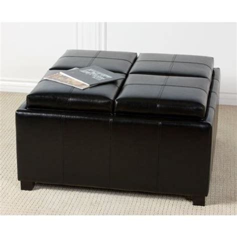 black leather storage ottoman with tray pinterest discover and save creative ideas