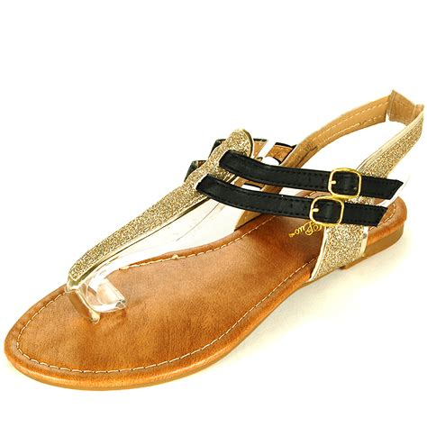 sandals sparkly womens t sandals gladiator flats sparkly glitter
