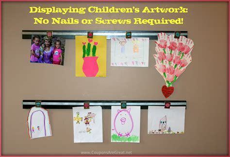 display art displaying children s art work how to make a wooden wall art magnetic display