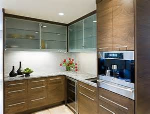 contemporary kitchen cabinetry with wooden furnishings
