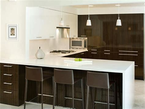 modern kitchen design for small house peninsula kitchens hgtv