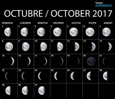 Calendario Lunar Octubre 2017 España Moon Calendar