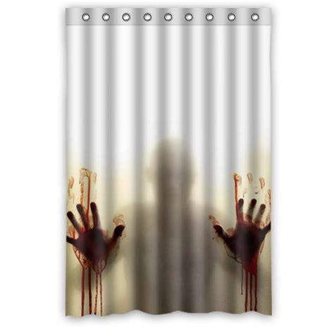 walking dead bathroom hot selling polyester bath curtain print the walking dead