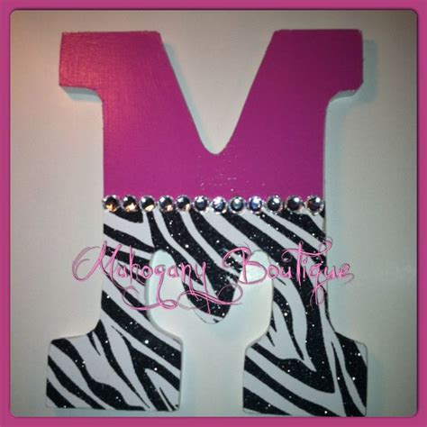 pink zebra home decor custom decorated wooden letters pink zebra print theme
