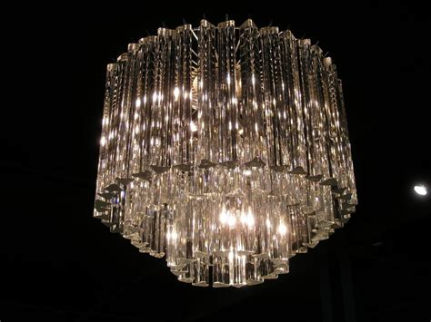 Glass Chandelier Three Tiered Murano Glass Chandelier By Venini At