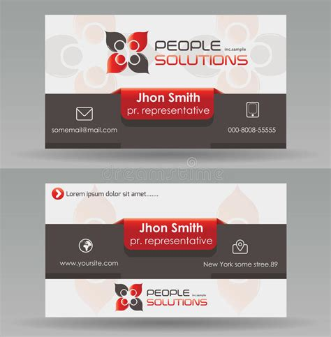 business card template with watermark business card template stock vector illustration of