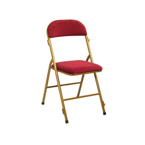 chaise pliante m 233 tal velours