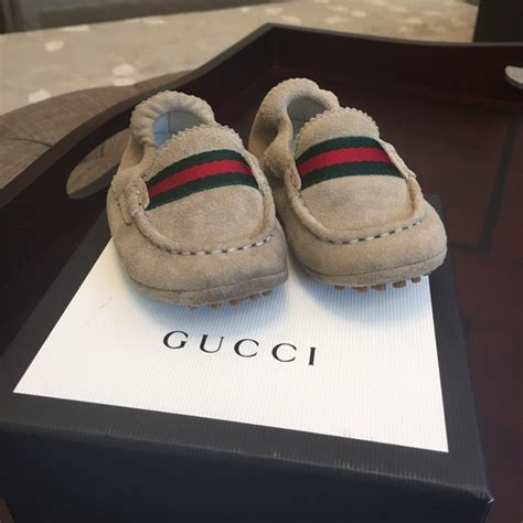 46 gucci other baby gucci suede driver shoes from