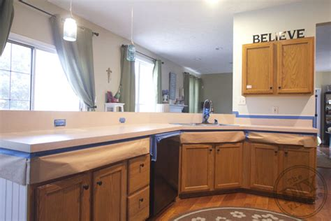 Countertop Makeover by Kitchen Countertop Makeover The Diy