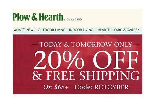 plow & hearth free shipping coupon