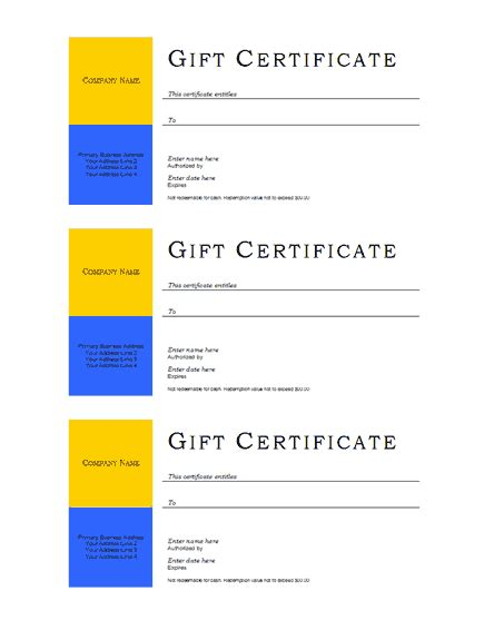 business gift certificate template free template downloads