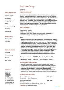 buyer resume sle template exle description