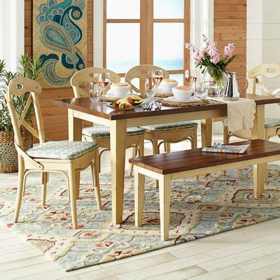 carmichael antique ivory dining table pier 1 imports