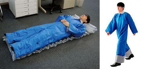 wearable air mattress sleeping bag suit the green