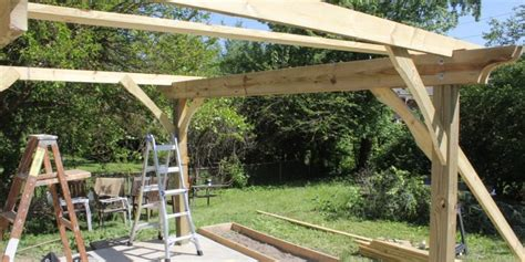 how to fix a swy backyard how to build a pergola in two days on a budget detailed