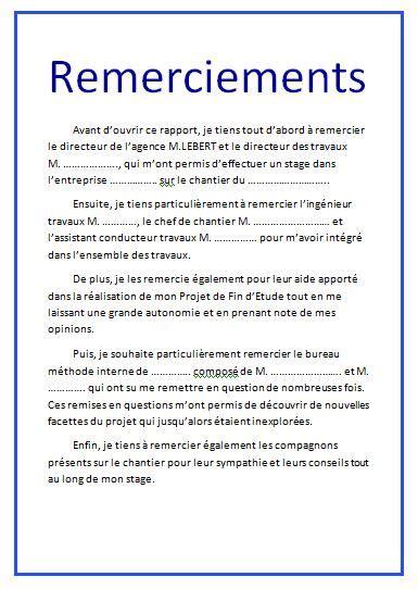 Lettre De Remerciement Mémoire 10 exemples remerciement pfe m 233 moire ou rapport de stage outils livres exercices et vid 233 os