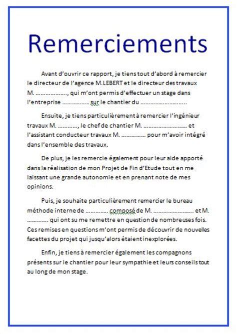 Exemple De Lettre De Remerciement Pour Mémoire Remerciements Au Terme De 28 Images Arenor Assurence