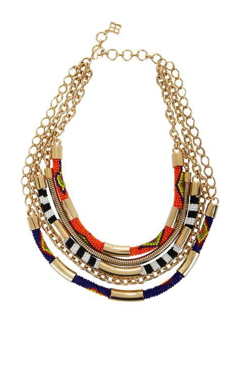new bcbg maxazria tribal seed bead statement necklace