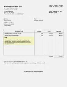 Ms Word Template Invoice by Microsoft Word Invoice Templatememo Templates Word Memo