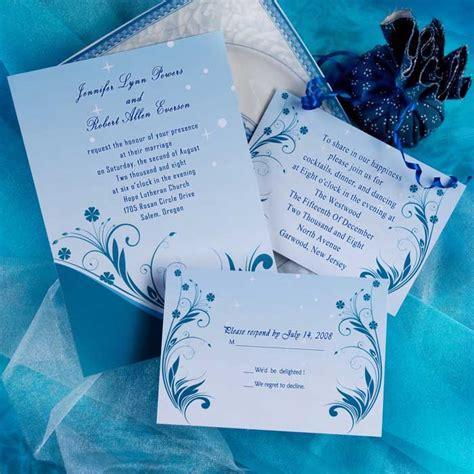 wedding  designs blue wedding invitations fresh  glamour