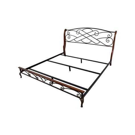 King Bed And Frame 90 King Wood And Metal Bed Frame Beds