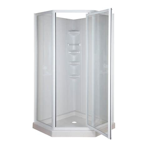 Shower Door At Home Depot Shower Inserts With Seat Shower Stalls For Small Bathroom Small Corner Shower Stalls Design