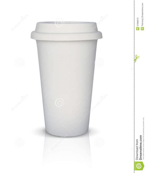 tasse de caf 233 224 emporter blanche d isolement photos stock