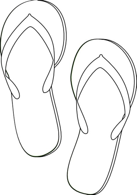 flip flop shoe card template flip flops outline clip at clker vector clip